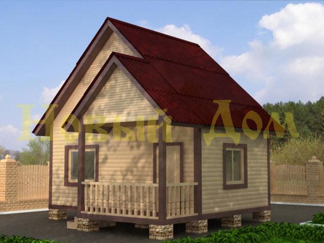 Деревянный дом из бруса  проект Д-3-К