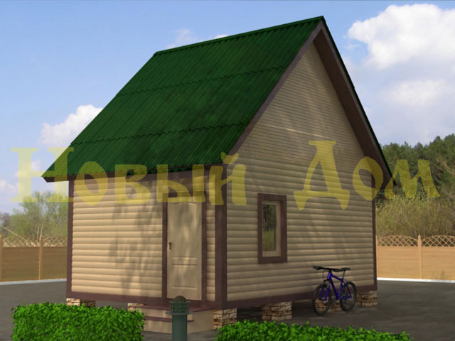 Деревянный дом из бруса  проект Д-5-К