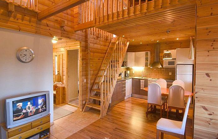 Дизайн деревянного дома из бруса фото